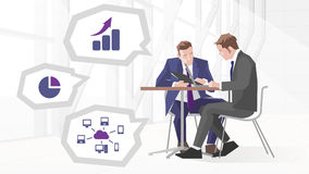 Two Businessmen In Meeting Using Laptop Royalty Free Stock Photos