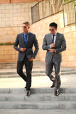 Two Businessmen Near Stairs, Sunglasses Royalty Free Stock Images
