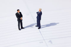 Two businessmen negotiate about a business Royalty Free Stock Images