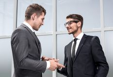 Two businessmen posing stock image