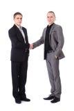 Two businessmen's handshake Stock Photos