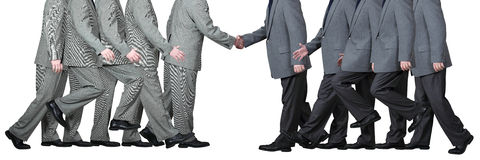 Two Businessmen Shake Hands. In agreement and in mutual respect isolated on white stock photos