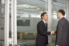 Two businessmen shake hands. royalty free stock photo