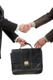 Two businessmen shaking hands Royalty Free Stock Photos