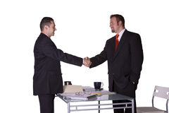 Two Businessmen Shaking Hands Royalty Free Stock Images