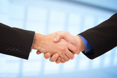 Two businessmen shaking hands stock image