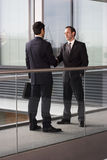 Two businessmen shaking hands Royalty Free Stock Photo