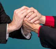 Two businessmen shaking hands Stock Photo