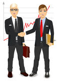 Two businessmen shaking hands Royalty Free Stock Photography