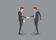 Two Businessmen Shaking Hands Full Body Vector Illustration Stock Photography