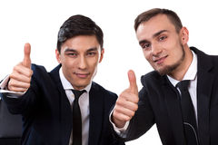 Two businessmen showing ok sign Stock Images