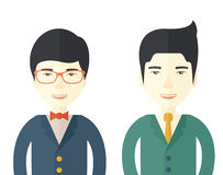 Two businessmen smiling Royalty Free Stock Photography