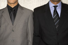 Two Businessmen in Suits and Neckties stock images