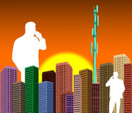 CITYSCAPE BUSINESS TO BUSINESS HIGH TECH TECHNOLOGY INDUSTRY BACKGROUND Stock Photo