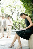 Business people in street. Royalty Free Stock Images