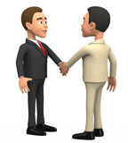 Two businessmen on a white background shake hands Stock Image