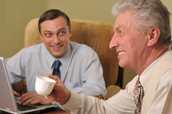 Two businessmen working Stock Photography