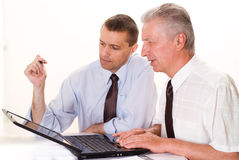 Two businessmen working Royalty Free Stock Images