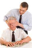 Two businessmen working Stock Photo
