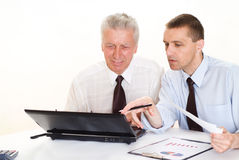 Two businessmen working together Stock Photography