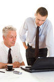 Two businessmen working together Royalty Free Stock Images