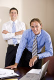 Two businessmen working together in boardroom Royalty Free Stock Photography