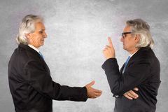 Two businesspeople. Two businesspartners making a business deal Stock Photography