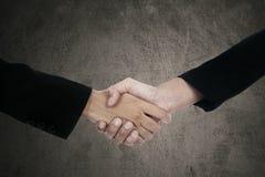 Two businesspeople handshaking Stock Photos