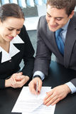 Two businesspeople at office Stock Photo