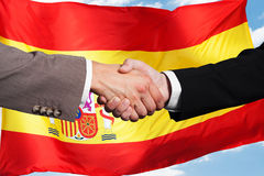 Two Businesspeople Shaking Hands Royalty Free Stock Images