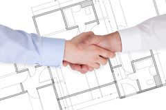 Two Businesspeople Shaking Hands Royalty Free Stock Photos
