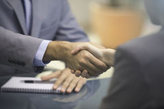 Two Businesspeople shaking hands Royalty Free Stock Photo