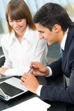 Two businesspeople working Stock Photography