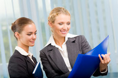 Two businesspeople working Royalty Free Stock Photo