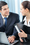 Two businesspeople working Royalty Free Stock Photography