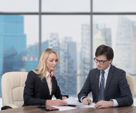 Two businesspeople Stock Image