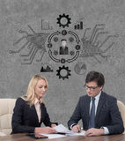 Two businesspeople Stock Images