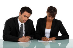 Two businesspeople Royalty Free Stock Photography