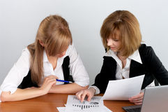 Two businesswoman Stock Images