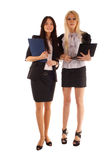 Two businesswoman with advisor and laptop Stock Image
