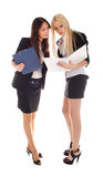 Two businesswoman look in advisor Royalty Free Stock Photos