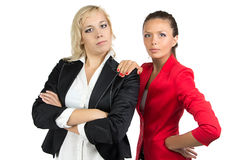 Two businesswoman looking at camera Stock Image