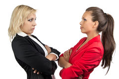 Two businesswoman looking at each other Royalty Free Stock Image