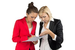 Two businesswoman making a decision Royalty Free Stock Image