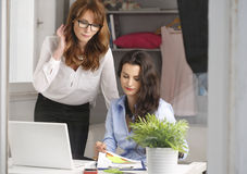 Two businesswoman meeting in office Stock Photography