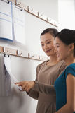Two businesswoman working in the office Stock Photo