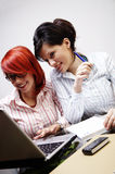 Two businesswomen Stock Images