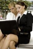 Two businesswomen stock photos