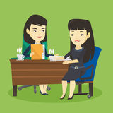 Two businesswomen during business meeting. Royalty Free Stock Photos