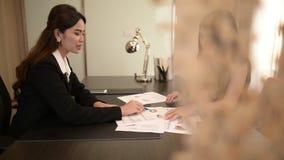 Two Businesswomen Meeting  In Modern Office. Two Businesswomen Meeting  In Modern Office,HD 1920*1080 stock video